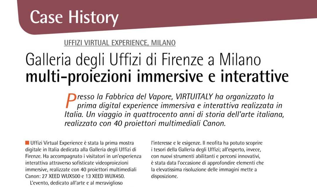 Galleria degli Uffizi di Firenze a Milano multi-proiezioni immersive e interattive