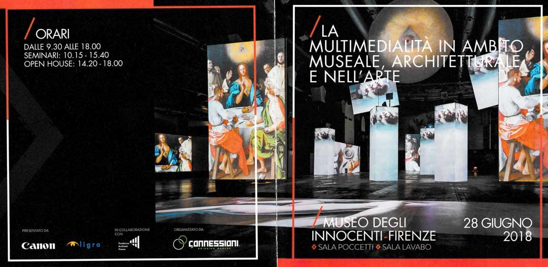"""Convegn: """"La multimedialità in ambito Museale, Architetturale e nell'Arte"""""""